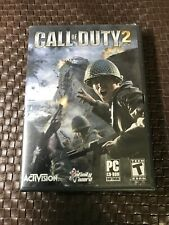 Call of Duty 2 PC CD-ROM Software Game 6 Discs 2005 Activision box, manual