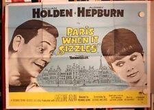 PARIS WHEN IT SIZZLES (Zusammen in Paris) AUDREY HEPBURN, WILLIAM HOLDEN POSTER
