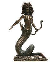 MEDUSA Gorgon Statue Nude Female Snakes Sculpture Figure Bronze Finish 8.66in