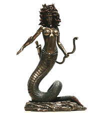 "MEDUSA Gorgon  Statue Nude Female Snakes Sculpture Figure Bronze Finish 8.66"""