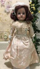 "Antique 15.5"" German Doll 370 Armand Marseille 4/0 DEP Leather Jointed Body Red"