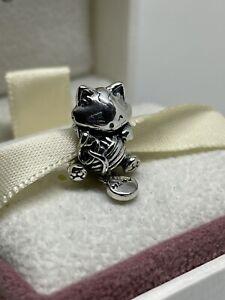 Cute Playfull Kitten Charm With Pandora Pop Up Box & Giftwrap