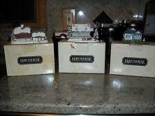 Hawthorne Register & Currier & Ives Christmas Houses Lot Of 3