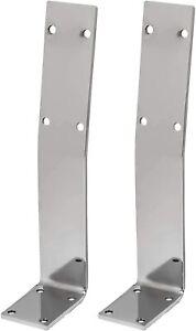 HOLZWERK24 Rücklehne Stahl silber-chrome Bankrückenlehne Banklehne BRL 108