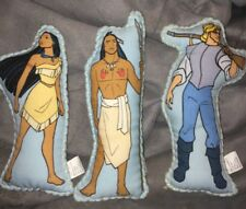 Vintage Disney Doll Set Pocahontas John Smith Kocoum Plush Set of 3 - Hallmark