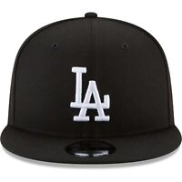Los Angeles Dodgers New Era 9Fifty Black White Logo On Field Snapback Hat Cap