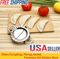 Stainless Steel Dumpling Maker Wrapper Dough Cutter Pie Ravioli Dumpling Mould