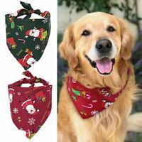 Christmas Cat Dog Santa's Slip-on Collar Scarf Xmas Holiday Neckerchief Bandana