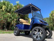REFURB NAVY 2017 ezgo 48v txt 4 seat Passenger golf cart alloy rims lifted FAST