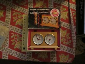 """Vintage Allan Troy Chess Clock-Jerger """"King"""" chess clock The Queen's Gambit PG"""