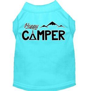 Mirage Pet Products Happy Camper Screen Print Dog Shirt Aqua Lg (14)