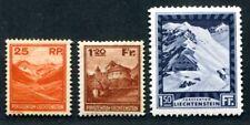 Liechtenstein 1933 106,119,121 nuevos valores máximos (s2680