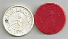 (Pgasteelers1) Reno,Nv Club Cal-Neva 2 different Good for 1 drink plastic tokens
