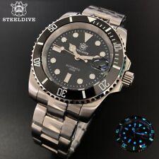 Steeldive SD1953 Watch Sapphire,NH35 BGW9 Luminous, Stainless Steel
