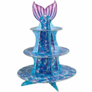 """Mermaid Cupcake Stand 16"""" Paper Mermaid Party Girls Birthday Party Decoration"""