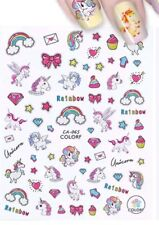 Unicorn Nail stickers .Party bags Girls supplies  x 3 sheets.10.2 x 8cm sheet.
