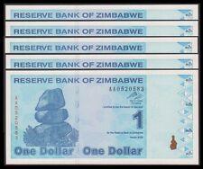 TWN - ZIMBABWE 92 - 1 Doll. 2009 UNC Prefix AA Dealers x 5