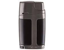 Xikar ELX Black Charcoal Double Jet Flame Lighter With Built In 9mm Cigar Punch
