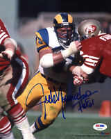 Jack Youngblood SIGNED 8x10 Photo +HOF 01 Los Angeles Rams PSA/DNA AUTOGRAPHED