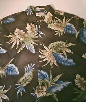 Campia Moda Mens L EUC Hawaiian Camp Shirt