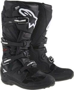 Alpinestars Tech 7 Motocross MX Offroad Race Boots Black Adults
