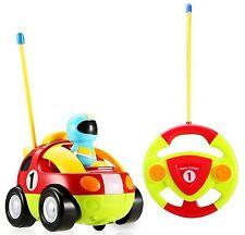 Haktoys Hak102 Rc Cartoon Race Car Radio Control Toy with Music & Led Headlights