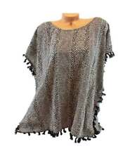 Victoria's Secret Embellished Elegant Slouchy Knots Trim Medium Beach Cover-Up