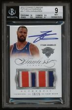 2012-13  TYSON CHANDLER FLAWLESS ON CARD AUTO 4-COLOR PATCH 18/25  - MINT BGS 9