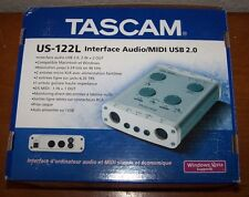 TASCAM US-122L USB 2.0 AUDIO / MIDI INTERFACE New In Box