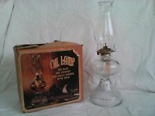 """Anchor Hocking Early Oil Lamp 18"""" Complete In Box"""