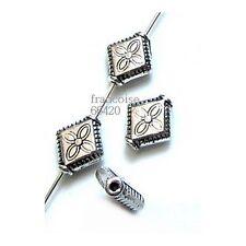10 Intercalaires spacer Losange arg 10x9x3mm Perles apprêts création bijoux A233