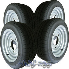 """4x 195/50R13C commercial trailer tyre & 5 stud 6.5"""" PCD Wheel fit ifor williams"""