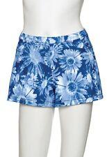 Hue Shorts Sz L Navy Blue White Floral Boho Jeans Shorts Cotton Blend U13826
