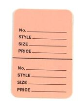"""300 BABY PINK 2.75""""x1.75"""" Large Perforated Unstrung Price Consignment Stor Tags"""