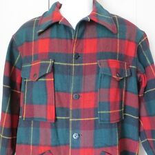 Vintage Pendleton Mens Plaid Mackinaw Style Wool Cruiser Hunting Jacket Medium
