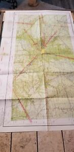 """VINTAGE RARE 1941 SECTIONAL AERONAUTICAL CHART MAP TWIN CITIES, MN 42"""" X 24"""""""