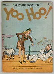 Yoo Hoo! (1942) #2 Centaur Army Navy Risque Humor Digest Walt Munson C/A VG+
