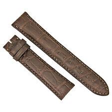 Hadley Roma 21 MM Matte Dark Brown Alligator Leather Strap 21ABT22M