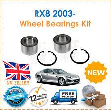 Für Mazda RX8 1.3 2.6 Rotierende 2003- Zwei Hinterrad Lager Set x2 Neu