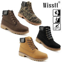 Men Leather Martin Boots Breathable Military Casual Ankle Camping Climbing Shoes