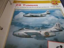 Fliegen 4: Karte 171 Saab 29 Tunnan