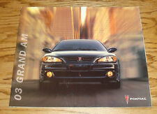 Original 2003 Pontiac Grand Am Deluxe Sales Brochure 03 SE SE1 SE2 GT GT1