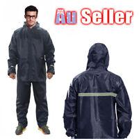 Split Adults Waterproof Raincoat Unisex Rain Coat Womens Mens Jacket Pant Set