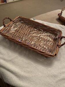 Wicker Tray/Basket Hamper Brand New