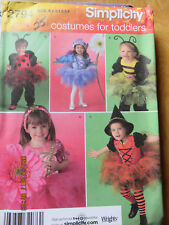 SIMPLICITY TODDLERS  COSTUMES  PATTERN - TUTU'S, WINGS, HATS ETC 2794 - 1/2 - 4