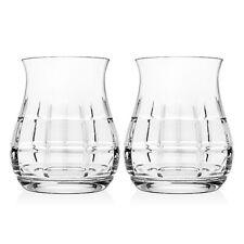 Top Shelf Tartan 12oz Crystal Whiskey Glasses Set of 2 48622 NEW