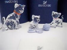 SWAROVSKI CAT MOTHER WITH KITTEN SITTING & KITTEN STANDING BNIB