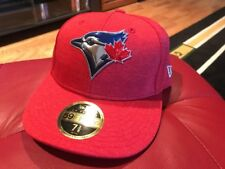 MLB New Era 5950 59fifty Toronto Blue Jays Fitted Hat Cap Size 7 3/8 Low Profile