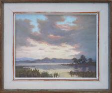 SIR ERIK LANGKER (1898-1982) Original oil Lake Reflections NSW c1940 Sydney Long