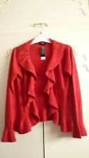 LADIES RED CARDIGAN SIZE 18/20 NEW TAGGED FROM EVIE